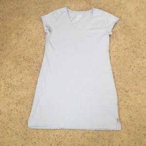 Light Blue T-shirt Dress